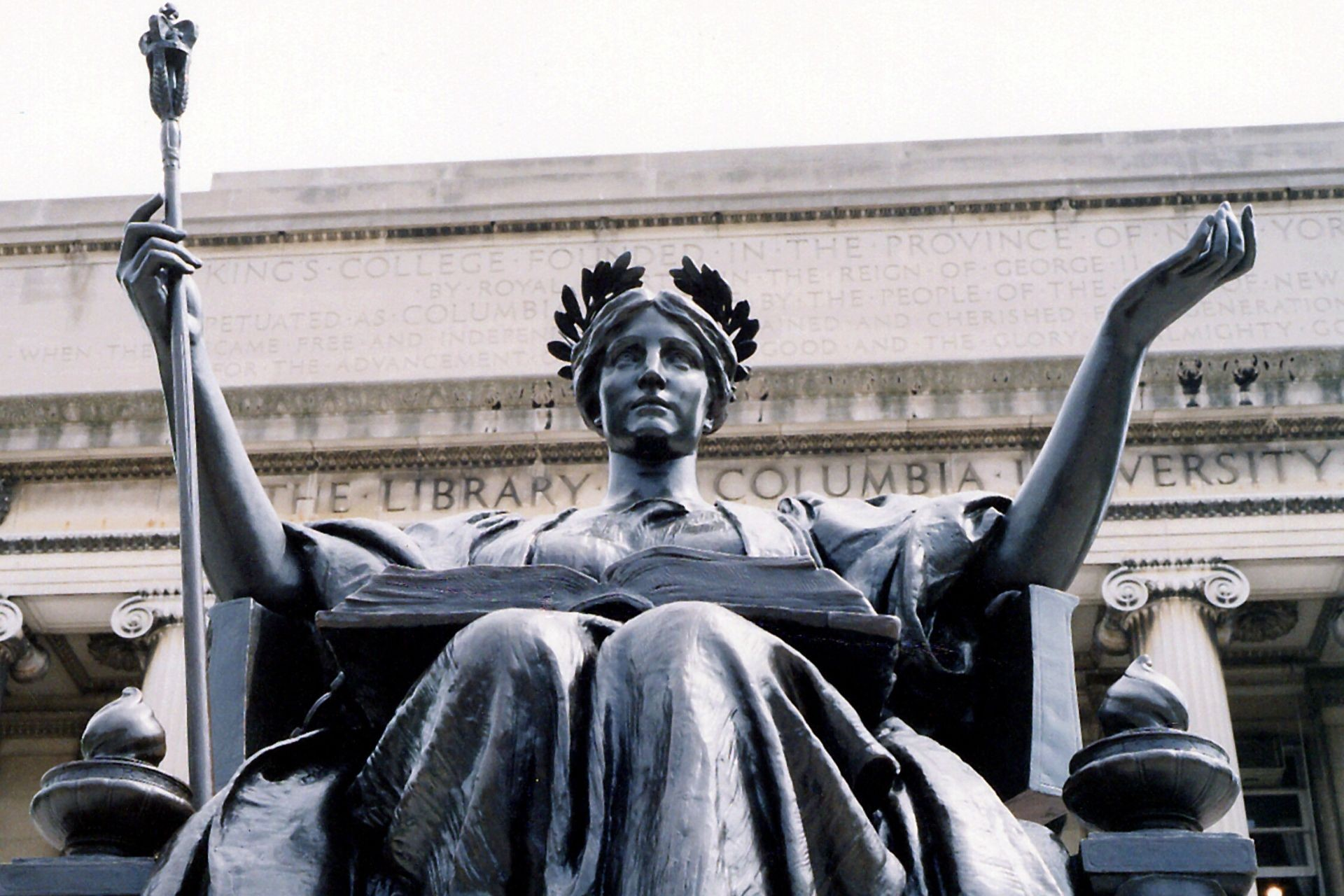 Alma Mater statue at Columbia University